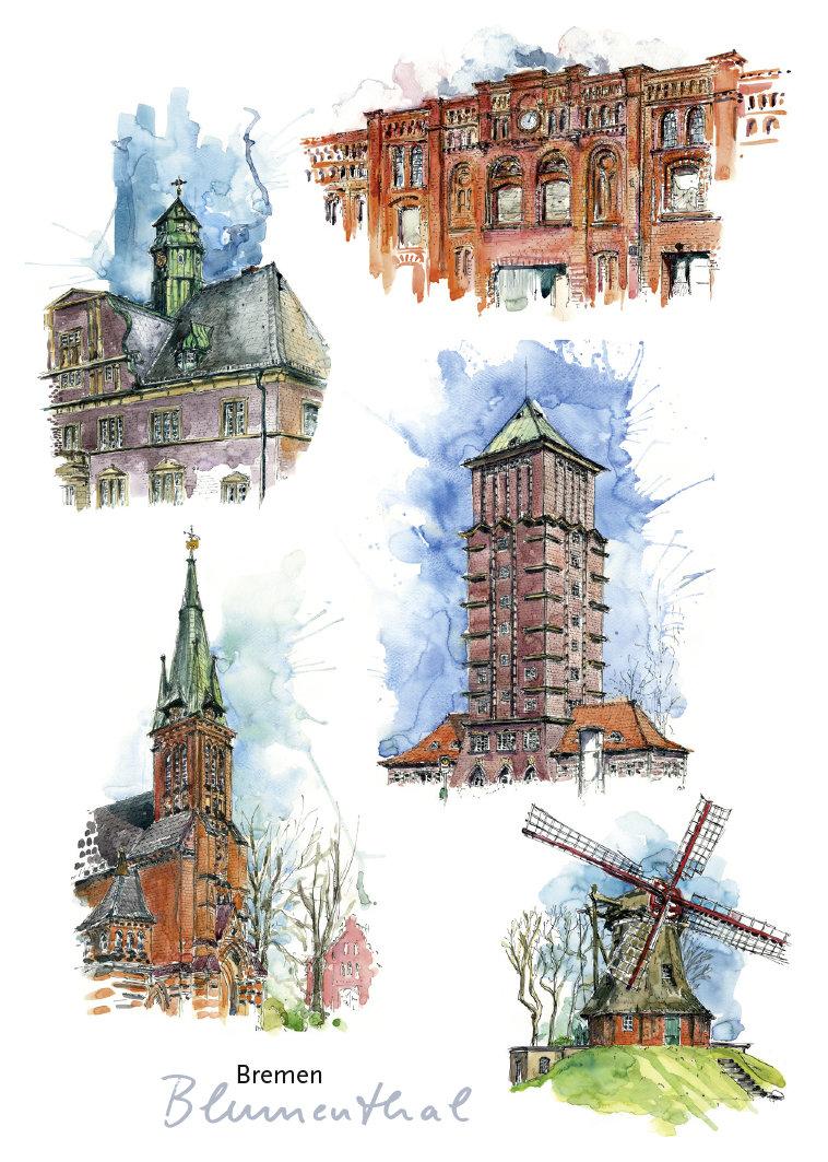 Postkarte Blumenthal